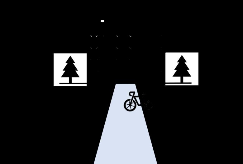 ビルの前に自転車がある